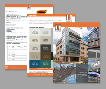 Collateral, Industrial Louvers, Brochures, Tech Sheets