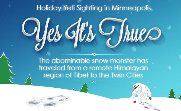 Happy Holidays Yeti
