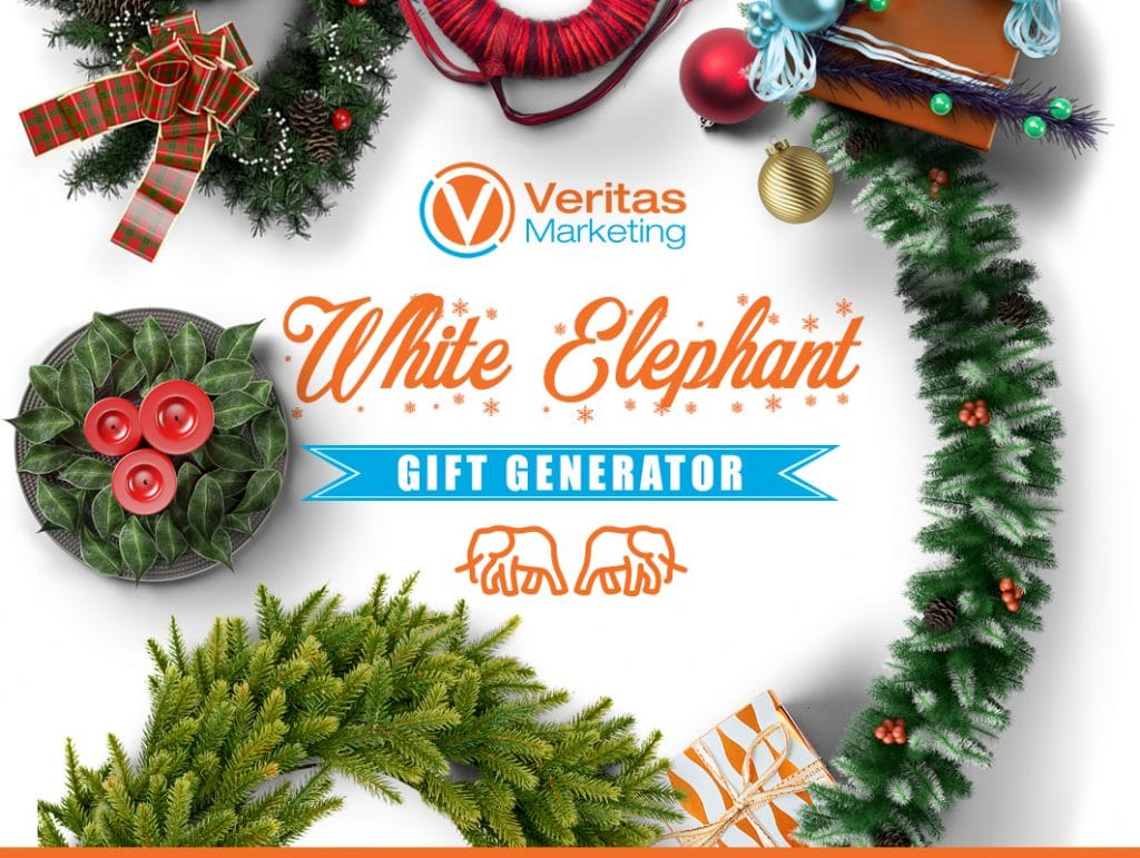 White Elephant Gift Idea Generator, Happy Holidays